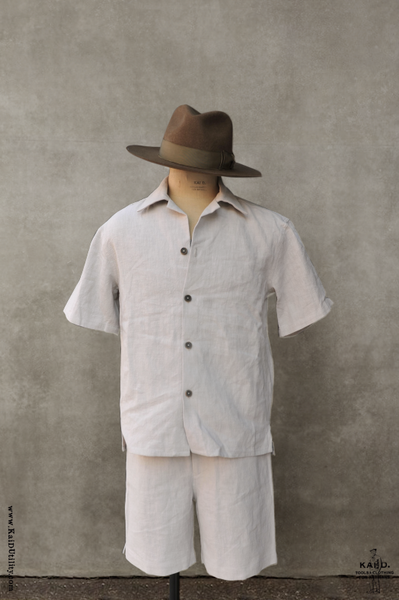Short Sleeve Lounge Shirt - Ecru - S