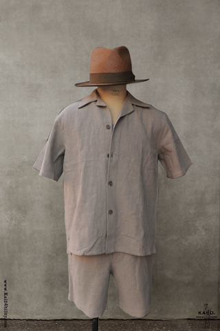 Relaxed Fit Short Sleeve Shirt - Hemp - M, L