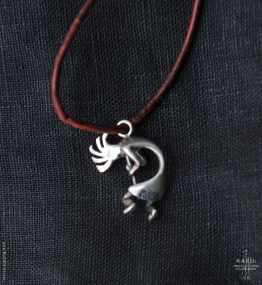 Navajo Kokopelli Pendant - Very small