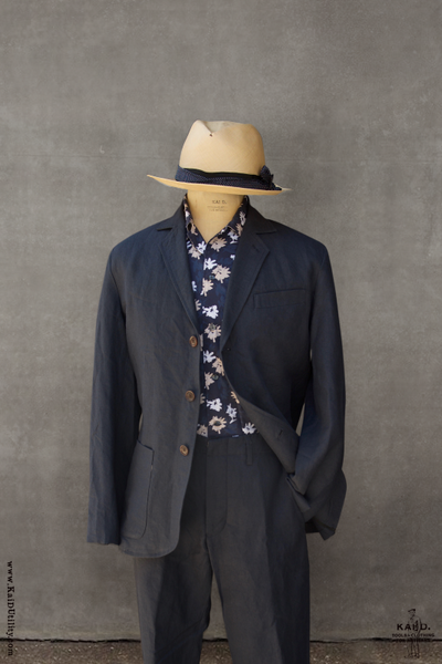 Shoemaker's Jacket - Navy Belgian Linen - S, M, L, XL