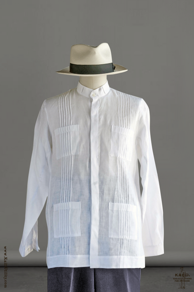 Cartagena Shirt Jacket - White Linen