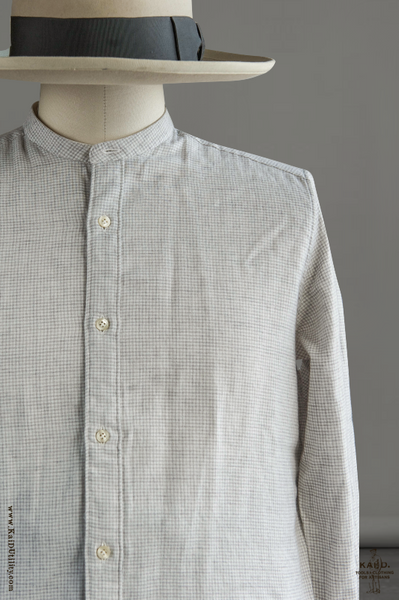 Mini Houndstooth Shirt - Pale Grey