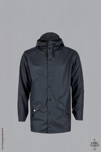 Hooded Rain Jacket - Navy - XS/S, L/XL