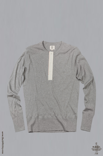Henley Harri - Grey Heather - S, M, L, XL