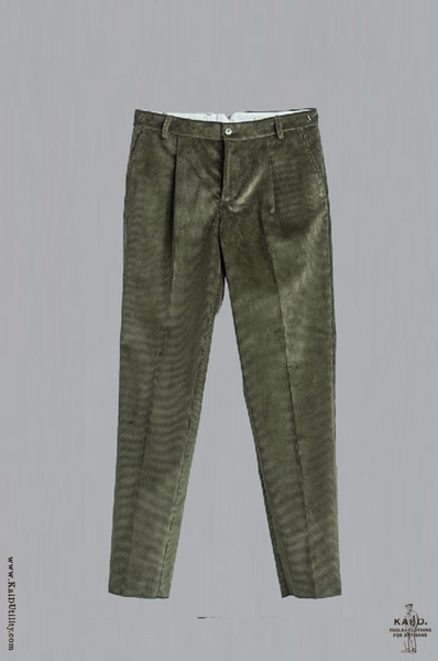 Wide Wale Corduroy Trouser - Olive