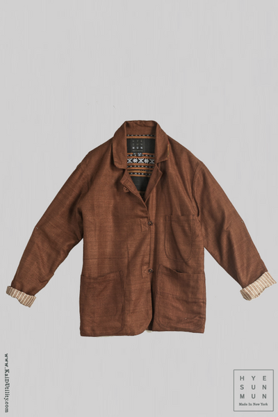 Lola Linen Jacket - Earth