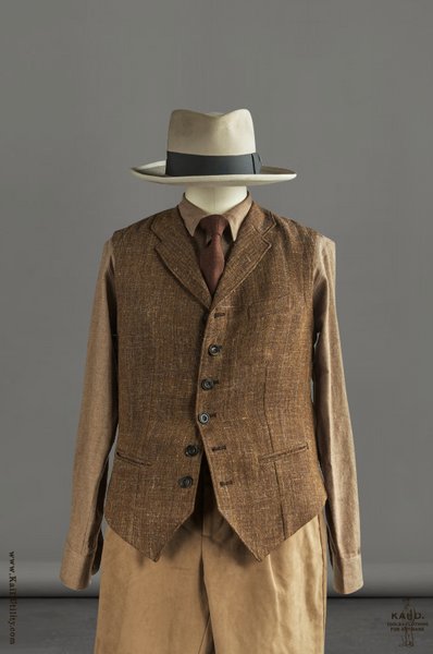 Wool Linen Tweed William Vest