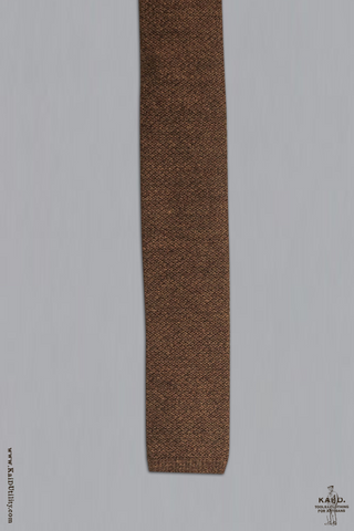 Wool Knit Tie - Chestnut