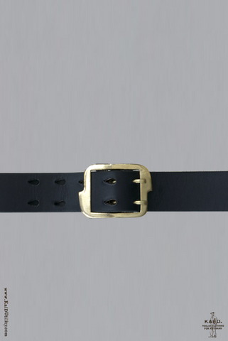 Fairlead Black Leather Belt
