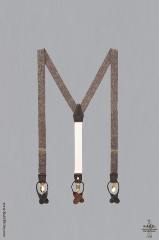 Classic Suspenders - Brown Heather