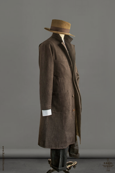 Chagall Wool Coat - Brown - M