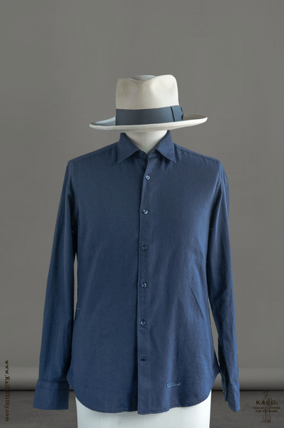 Cotton Wool Shirt - Navy
