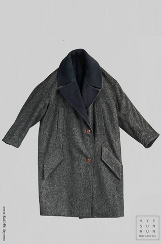 Anne Reversible Wool Coat - S
