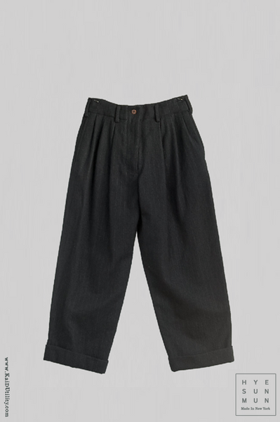 Milo Wool Pants - Chalk Stripe