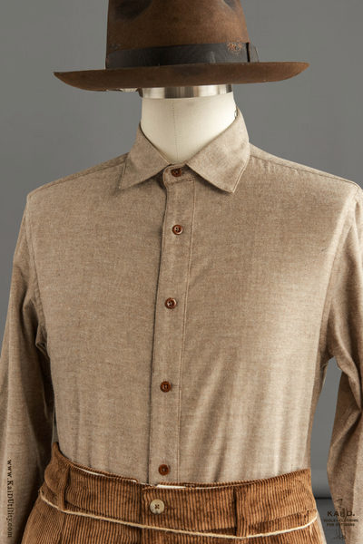 Ultra Soft Heather Cotton Denham shirt - Tan