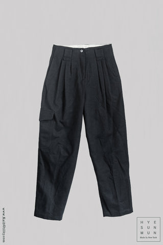 Wool Kaylee Cargo Pants - Black
