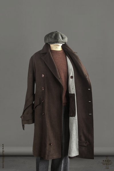 Soft Wool Motorcycle Trench