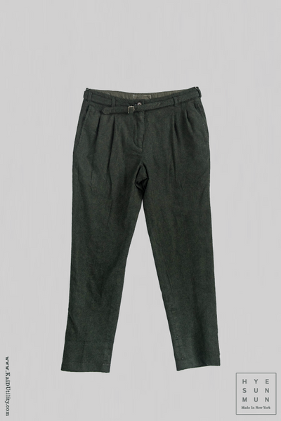 Overdyed Wool McCartney Belted Pants