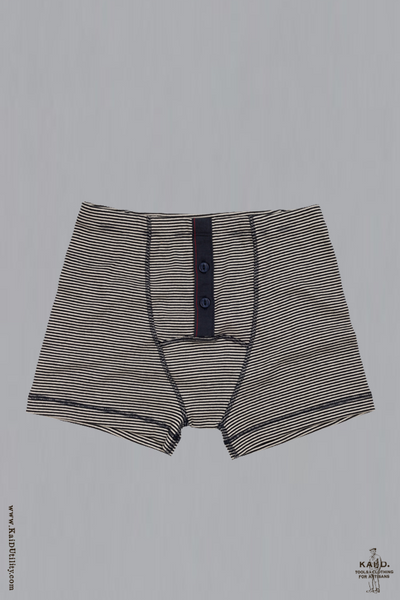 Boxer Brief - Fine Stripe Marine