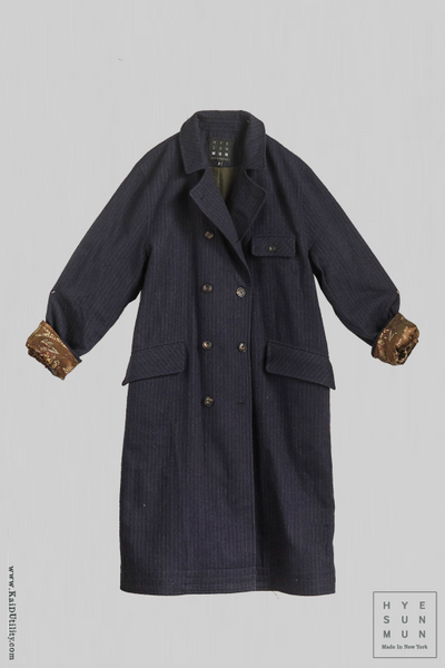 Keaton Trench Coat - Striped Wool