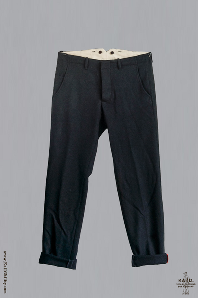 Japanese Wool Borough Pants - Black