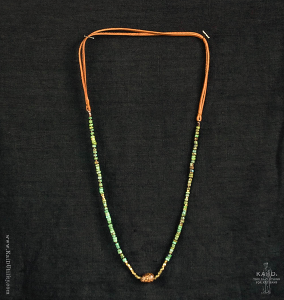 Handmade Beaded Necklace - Green
