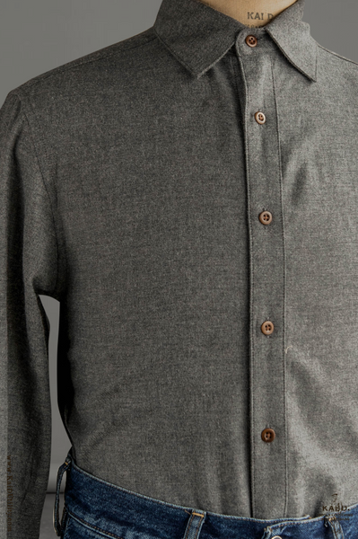 Ultra Soft Heather Cotton Denham shirt - Graphite - S, M, L, XL, XXL