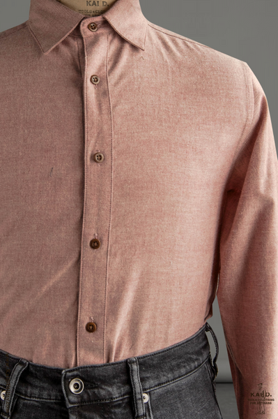 Ultra Soft Heather Cotton Denham shirt - Dusty Pink - S, M, L, XL