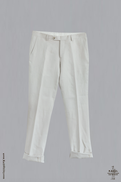 Alex Formal Trousers - Ecru - 32, 34, 36, 38