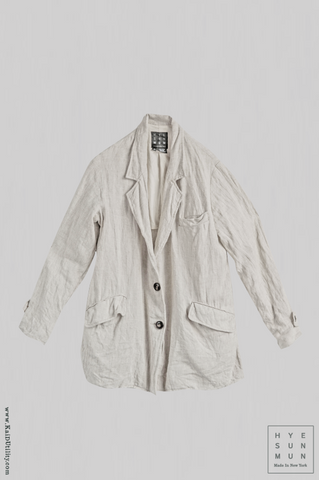 Washed Linen Blanchett Linen Jacket