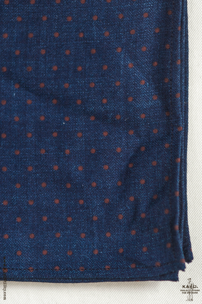 Indigo Polka Dot Pocket Square