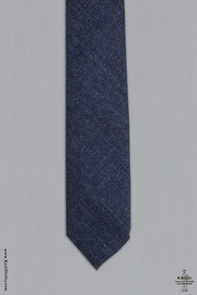 Retro Wool Tie - Uniform Blue