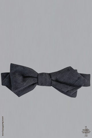 Texture Dot Bow Tie - Black