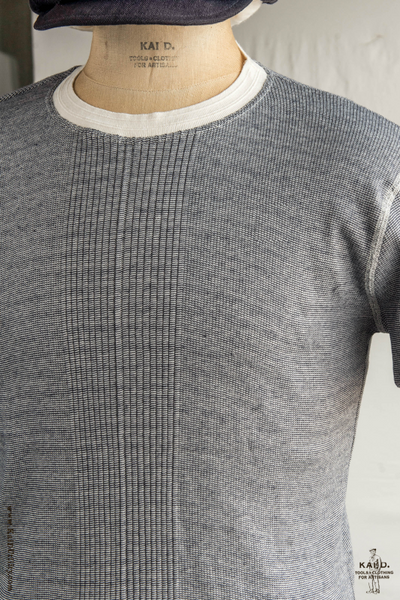 Short Sleeve Drop Needle Rib Tee - Grey Heather - L, XL