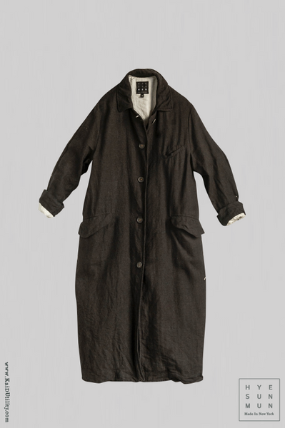 Sontag Linen Coat - Black