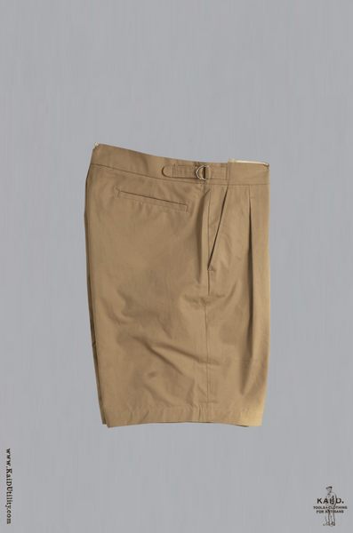 Double Pleat Bermuda Shorts - Sand