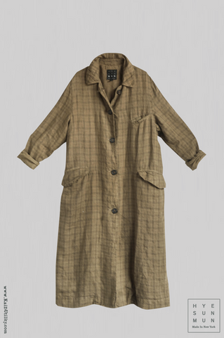 Victorian Linen Duster Coat - Small