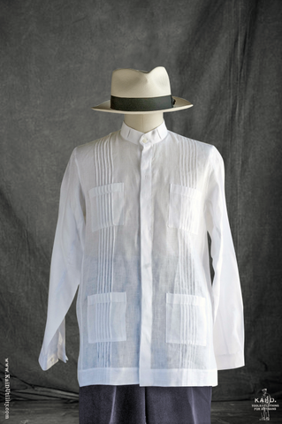 Cartagena Shirt Jacket - White Linen - L