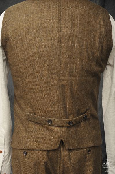 Yarn Dyed Wool Daniel Vest - October - M, L, XL