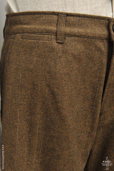Fred Yarn Dyed Wool Trousers - October - M, L, XL