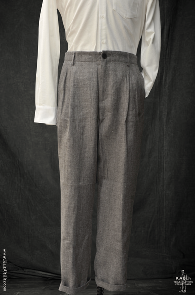 Heather Linen Wool Double Pleat Pants - 30, 32/33, 35/36