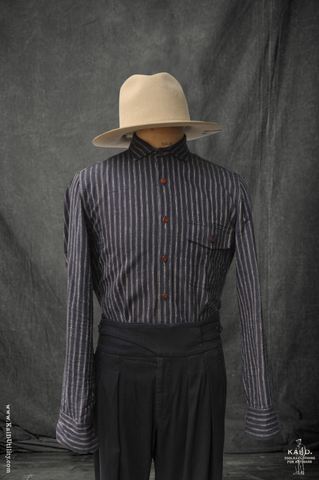 Slub Cotton Linen Hopper Shirt - Indigo - M