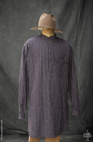 Owen Kurta Shirt - Slub Stripe - XL