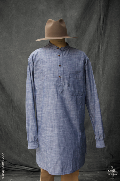 Owen Kurta Shirt - Chambray - XL