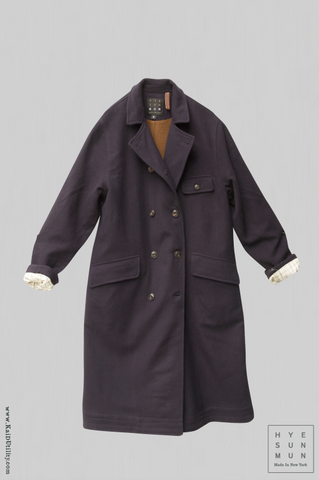 Keaton Trench Coat - Navy Wool - XS, S, M