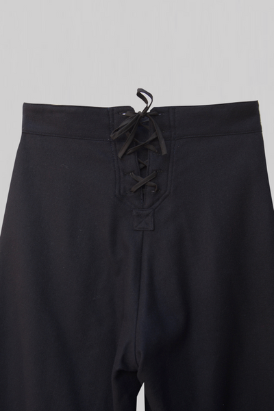 Soft wool/cashmere sailor pants - Midnight - XS, S, M
