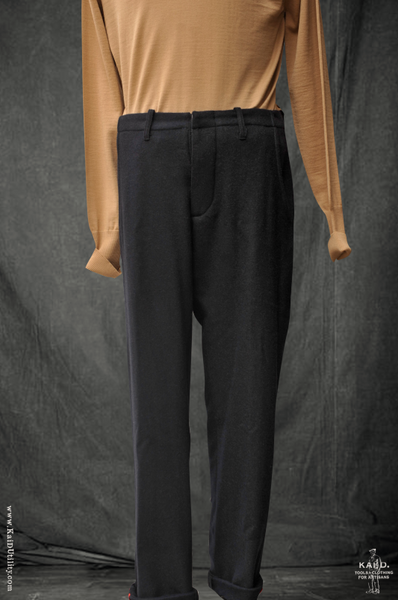 Camel Hair Wool Linen Borough Pants - Navy - 30, 32, 34, 36