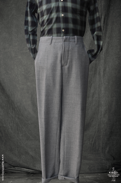 Virgin Wool Borough Pants - Pale Grey - 34, 38