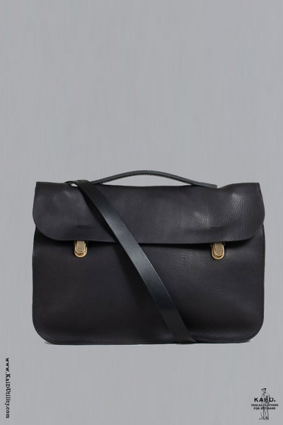 Groucho Leather Satchel - Black