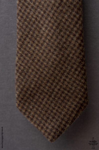 Brushed Gingham Wool Tie